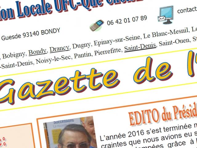 La Gazette du mois de mars est publiée !
