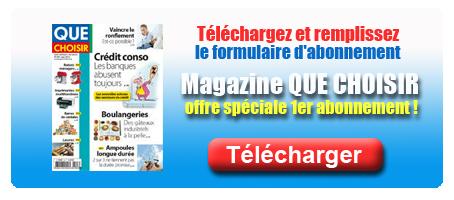 Abonnement au magazine QUE CHOISIR