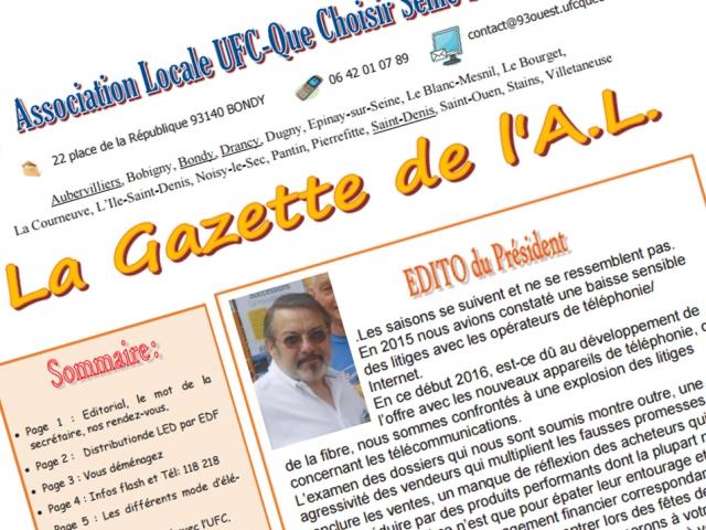 La Gazette du mois de septembre est publiée !